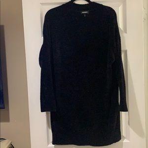 Express chenille sweater dress